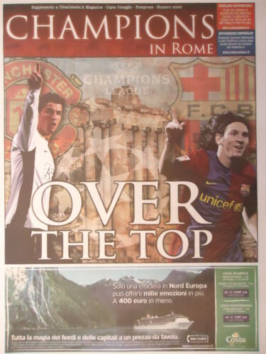FC Barcelona Programm Champions in Rome UEFA CL Finale 2009 Manchester United
