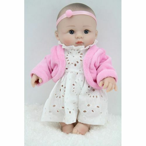 Handmade Reborn Bath Silicone Vinyl Pink Clothing Girl Doll Toy Gift 10inches