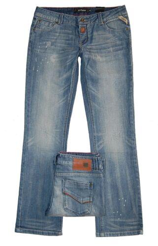 Blend Jeans Slim Fit W26-W32 L32 NEU Damen Gerade Hüfthose Stretch Blau Used