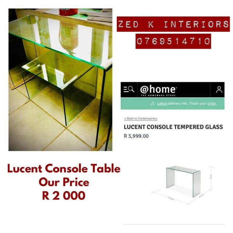 LUCENT CONSOLE TEMPERED GLASS