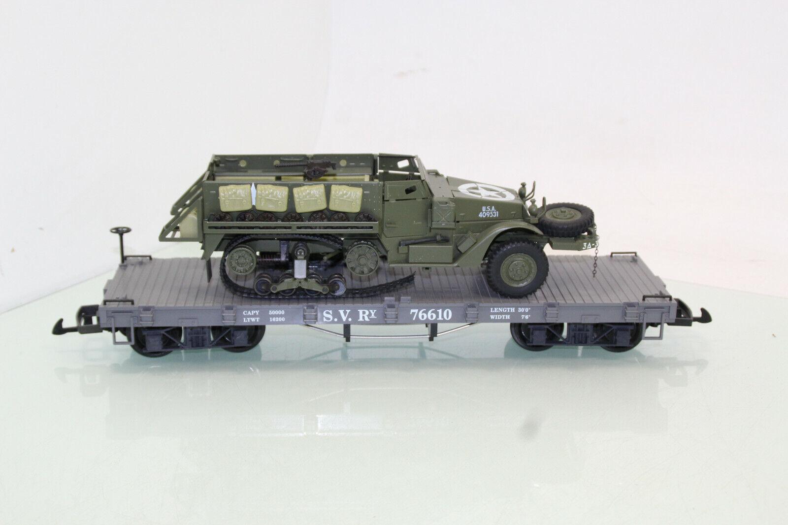 Lgb gonio Spur g 76610 flachwagen tablet American MIT halbraupenfahrzeg (js7717) o