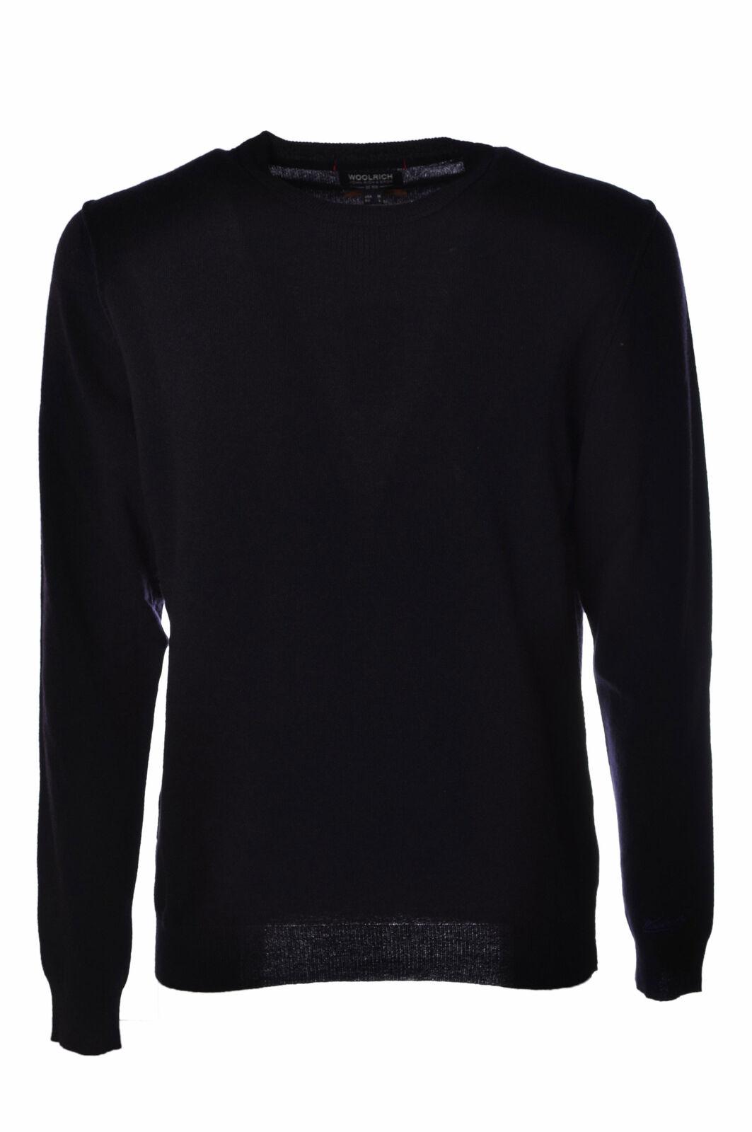 Woolrich  -  Sweaters - Male - Blau - 2637428N174200