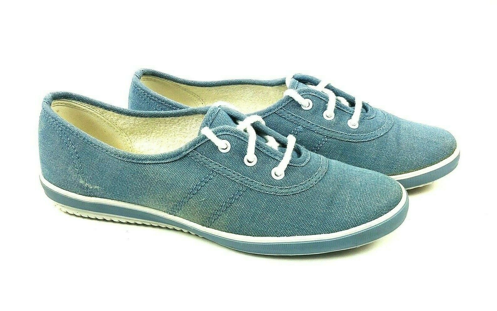 Keds Grasshoppers Womens shoes Size 7.5 M bluee Canvas Sneakers Lace Up
