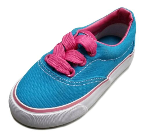 NEW Baby Toddler Infant Canvas Lace Up Sneaker Shoe Size 4-9 Boys Girls Unisex