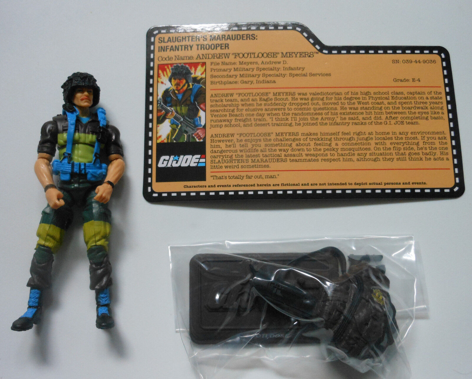 FOOTLOOSE GI Joe Convention Convention Convention 2018 Exclusive Boxed Set Loose Mint Complete 7d3540