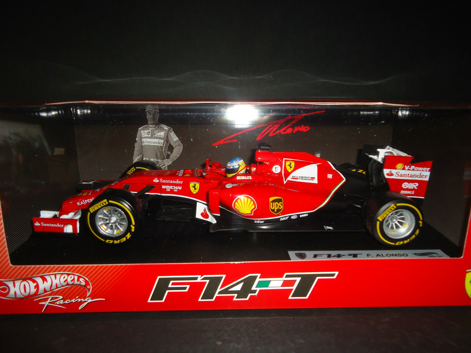 Hot Wheels Ferrari F1 F14 T 2014 Fernando Alonso BLY67 1 18
