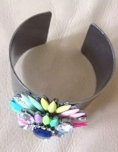 Multi Gem Statement Bracelet Cuff • Wedding Party Gift Present BIRTHDAY EVENING