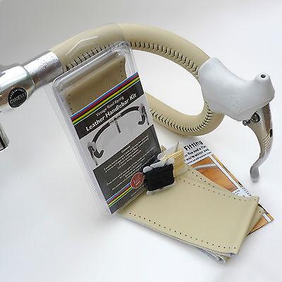 Wax Thread /& Needles Velobitz Vintage Red Leather Handlebar Cover Kit