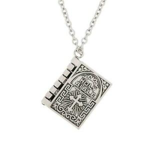 Stainless-Steel-Cross-Bible-Verse-Prayer-Dog-Tag-Pendant-Women-Necklace-H7U1