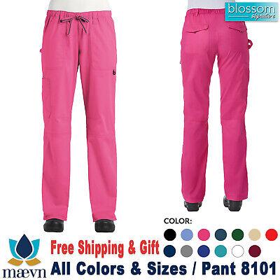 Maevn Scrub BLOSSOM SIGNATURE Women/'s Functional Waistband Pant 8101