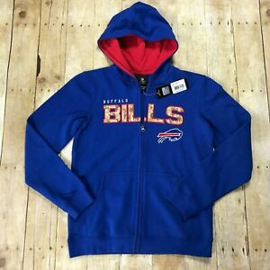 timeless design 4a683 4525b NFL Team Apparel Buffalo Bills Youth X-large Zip up Hoodie Salute to Service