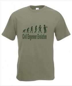 c7251a1b Evolution to Civil Engineer t-shirt Funny T-shirt sizes S To 2XXL | eBay