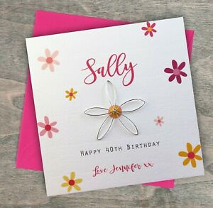 Details about Personalised Handmade Birthday Card Mum Wife Sister 21st 30th  40th 50th 60th 70