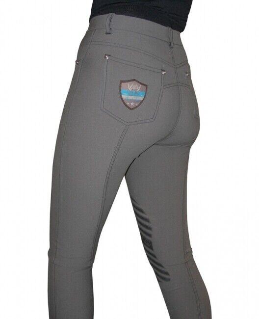 MARK Todd Donna Coolmax Grip Pantaloni Grigio 32