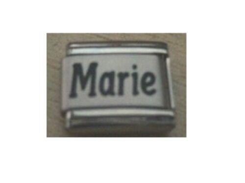 9mm Classic Size Italian Charm  Names Name Marie