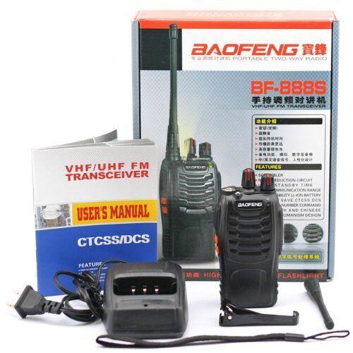 BAOFENG BF-888S UHF FM Transceiver Flashlight Walkie Talkie Two Way Radio New