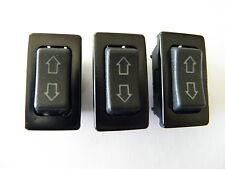 THREE 3 UNIVERSAL POWER DOOR LOCK/POWER WINDOW ILLUMINATED ROCKER SWITCHES 5 PIN