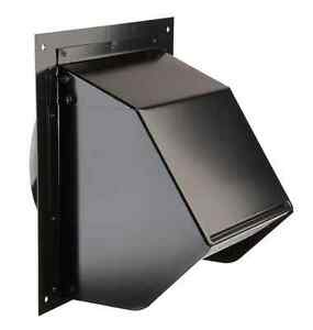 6 In Duct Vent Wall Cap Black Exhaust Fan Range Hood