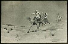 Giradores Sudán África camellos del desierto 1895, 7x4 pulgadas impresión reimpresión