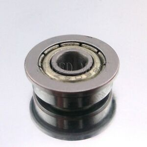 5 x F604zz Metal Double Shielded  Flanged  Ball Bearings 4mm*12mm*4mm