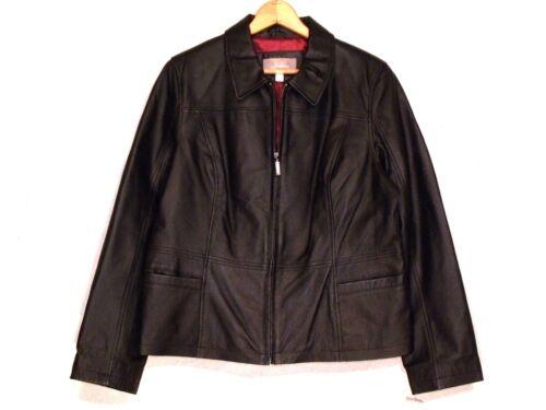 Nwt schwarze Lederjacke mit schlanke Reißverschluss XL Barrow Croft B21 Damen gefütterte UI7rUx