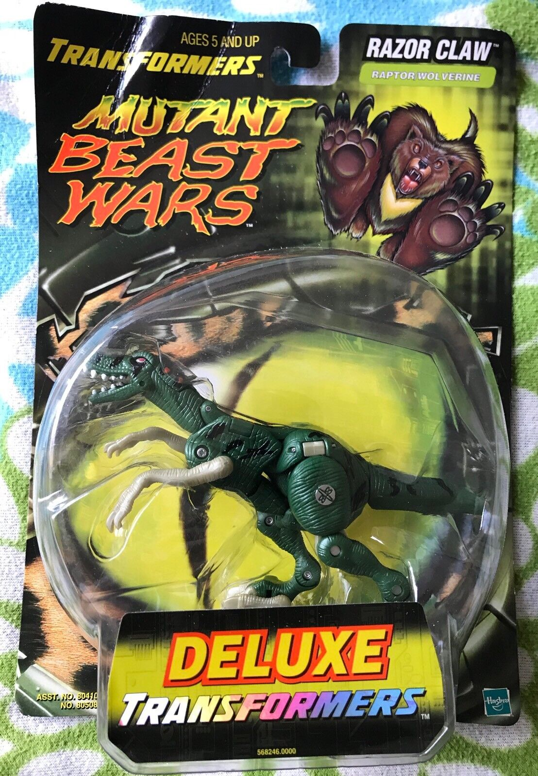Transformers BEAST WARS MUTANT RAZOR CLAW Deluxe Class 2000 New Sealed Rare