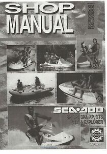 sea doo service shop manual 1993 seadoo sp spx spi xp gts gtx rh ebay com 1993 and 1995 Sea-Doo XP 2019 Sea-Doo XP