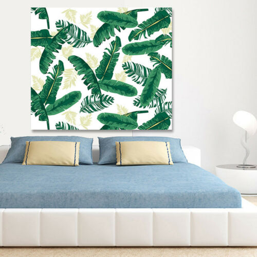 TROPICAL PALM LEAF TAPESTRY POLYESTER BOHEMIA BEDSPEAD BEACH DECO WALL HANGING
