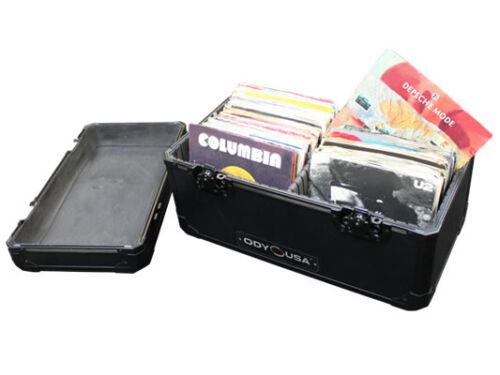 "ODYSSEY CASES K45120BL BLACK KROM SERIES 7/"" UTILITY CASE HOLDS 120 VINYL RECORDS"