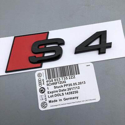 NEW AUDI Metal Black S4 Trunk Sticker Emblem //Decal //Badge //SLINE RS