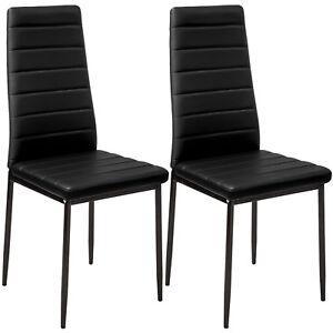 Set di 2 sedia per sala da pranzo tavolo cucina eleganti moderne robusto nero nu