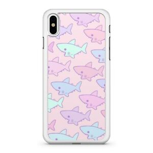 Blue-Pink-Colourful-Baby-Sharks-Sea-Ocean-Animals-Pattern-Fine-Phone-Case-Cover