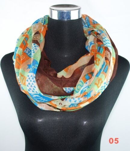 XXL Sciarpa Loop Scialle Foulard Crinkle tubo scialle Loopschal Panno Nuovo!!!