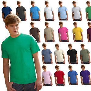 T-Shirt-Cotone-Uomo-Maglia-Tinta-Unita-Da-Stampare-Fruit-Of-The-Loom-Valueweight