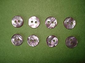 8 boutons plastiques 2 trous lilas CT2C02c 14 mm