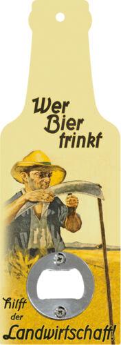 Handflaschenöffner Wer Bier trinkt hilft der Landwirtschaft Öffner GB8577-3