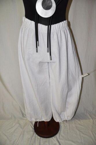 Myo bianco Pantalone e XL Lino 44 palloncino Coulisse Lagenlook 42 taglia buco L 1 a Marlene qqxfrzEF