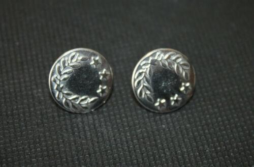 Jeansknöpfe 17 mm Durchmesser Metall Rostfrei Hosenknöpfe in Silber