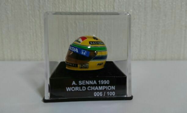 Extremely Rare   Ayrton Senna Helmet World Champion 1990 Leos From JAPAN F S