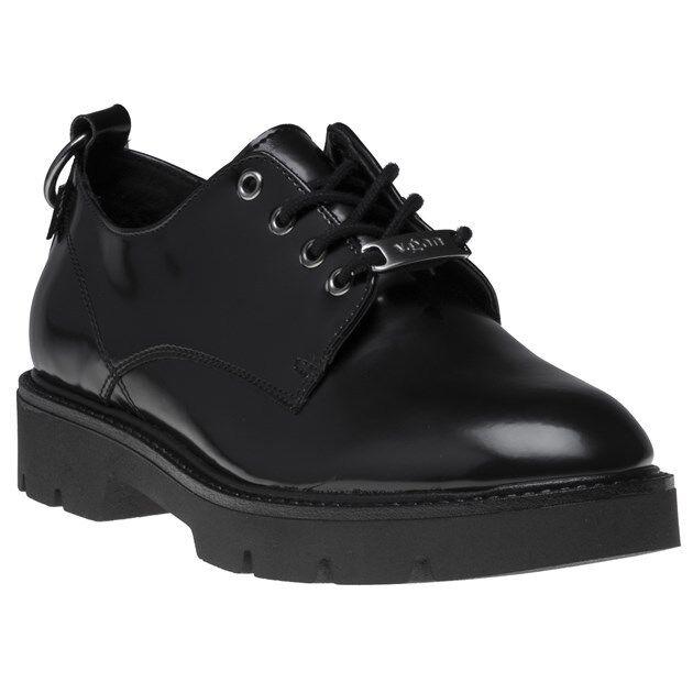 Nouveau Haut C. GAN Noir Vegan Kale Chaussures Flats Lacets