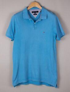 Tommy Hilfiger Hommes Slim Décontracté Col Polo T-Shirt Taille L BCZ803