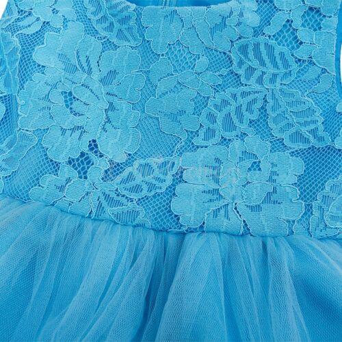 Kids Baby Flower Girls Party Lace Dress Wedding Bridesmaid Princess Dresses