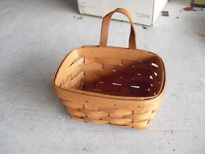1989-Longaberger-Handwoven-Wall-Hanging-Basket-7-034-Wide