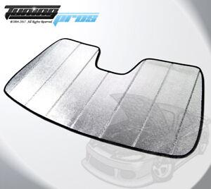 Premium Custom Fit Folding Sun Visor SunShade For GMC Sierra 1500 Crew Cab 14-19