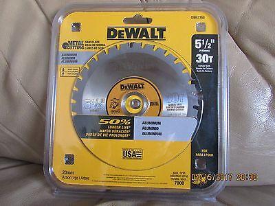 "5-1/2"" 30T Metal Cutting Saw Blade DeWalt DWA7760 New"