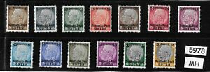 Complete-MH-set-Osten-overprints-Hindenburg-Third-Reich-occupation-of-Poland