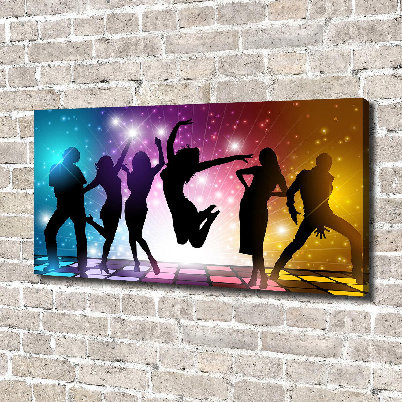 Leinwandbild Kunst-Druck 140x70 Bilder Menschen Disco