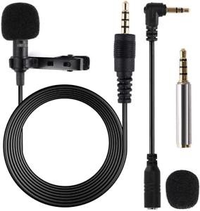 Gyvazla 3.5mm Lavalier Solapa Condensador Omnidireccional Para /& Micrófono De Clip