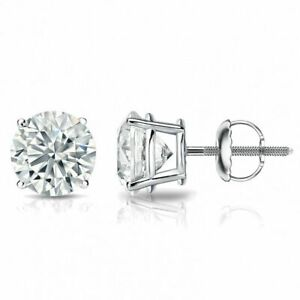 750-Estampe-18K-Or-0-60-Cts-F-VS1-GIA-Naturel-Diamants-Clous-Boucles-d-039-oreilles