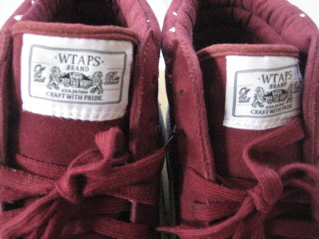 Vans Wtaps Sk8-Hi Burgundy Syndcate 11 cross cross cross bone Supreme bef07a